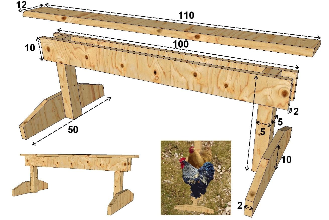 construire des perchoirs pour poules mod les poulailler bio. Black Bedroom Furniture Sets. Home Design Ideas