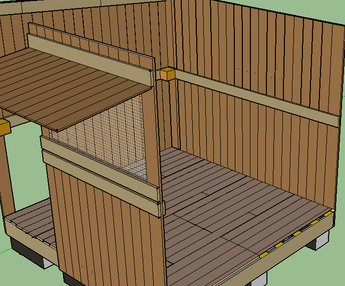 Construction d un poulailler plan poulailler bio for Poulailler en palettes
