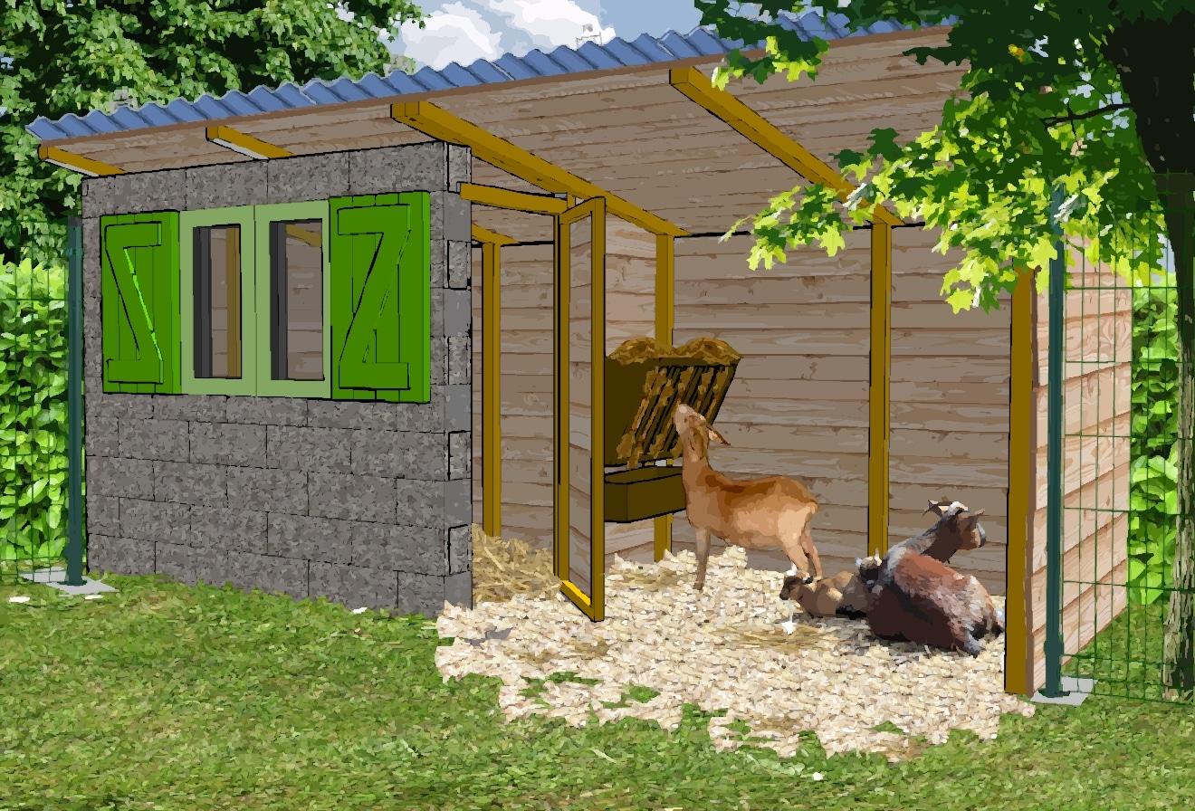 la ch vrerie construire un abri pour les ch vres poulailler bio. Black Bedroom Furniture Sets. Home Design Ideas
