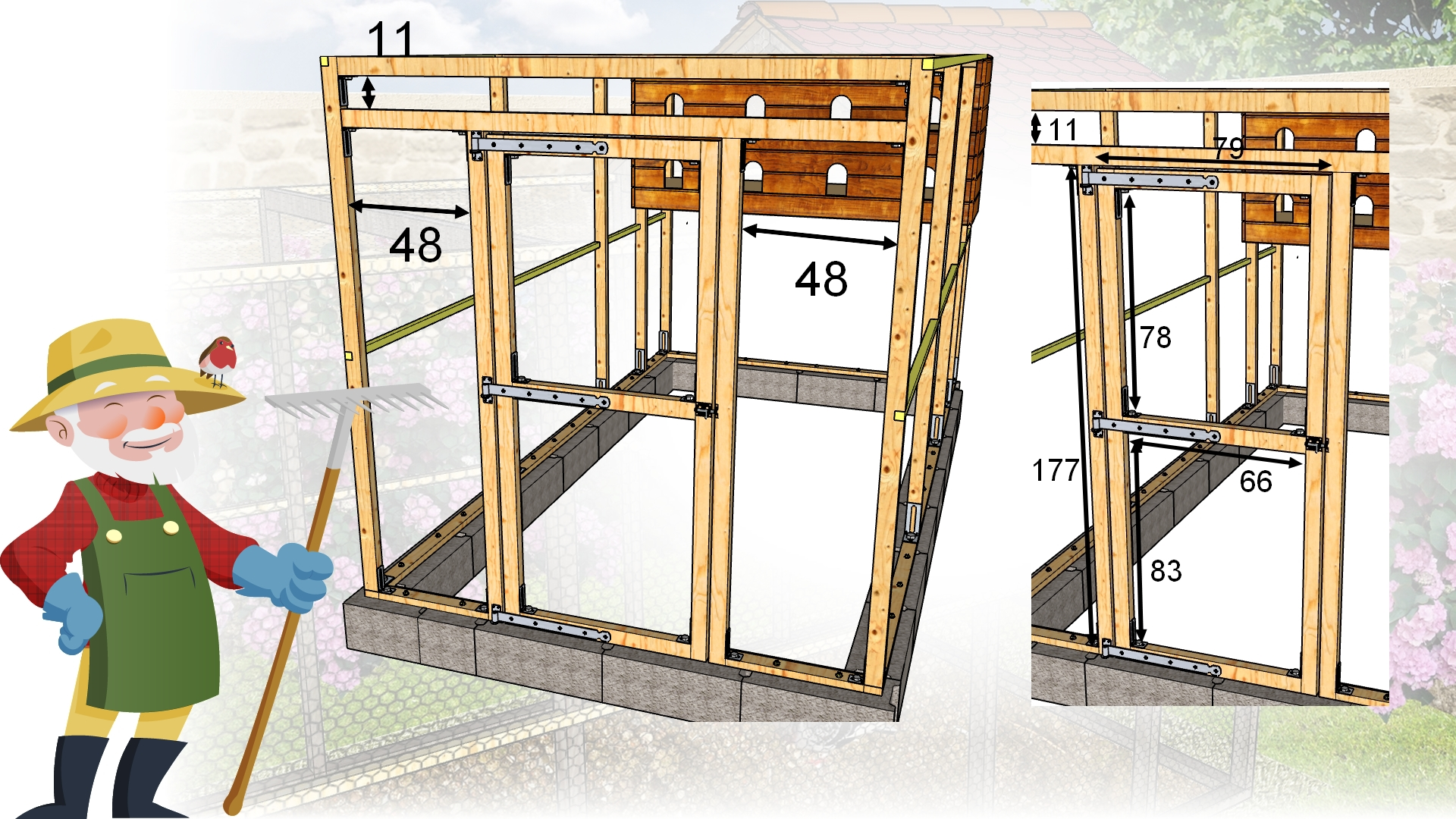construire un pigeonnier plan poulailler bio. Black Bedroom Furniture Sets. Home Design Ideas