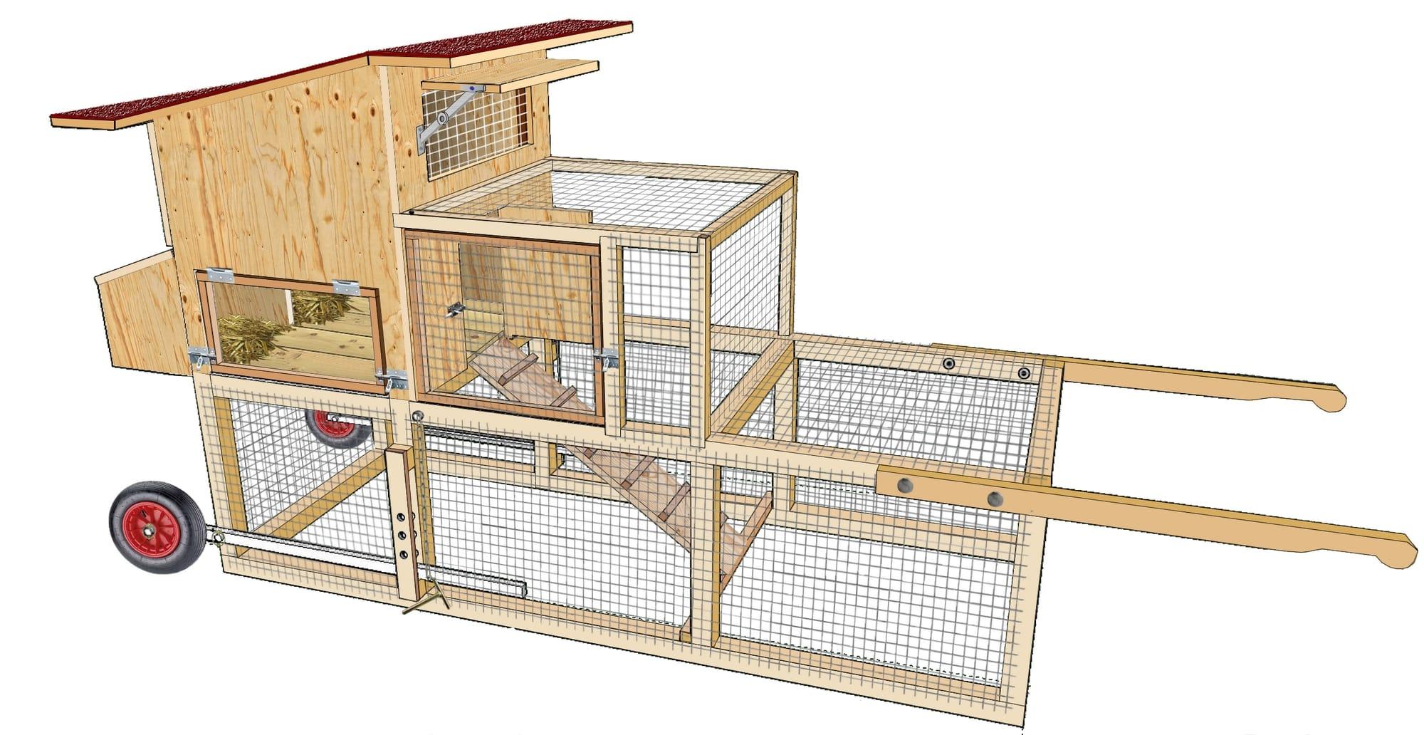 Tracteur poules plan poulailler bio for Plan pour construire un poulailler industriel